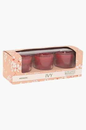 IVYShot Glass Water Lily Aromatic Candle Pack Of 3