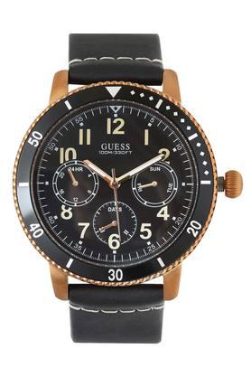 Mens Leather Analogue Watch -W1169G2