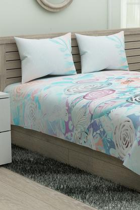 Utopia Printed King Bed Sheet with Pillow Cover