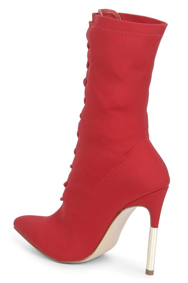 Womens Party Wear Lace Up Boots