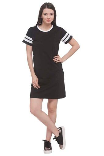 1d3566c992ffb7 Buy LIFE Womens Round Neck Solid T-Shirt Dress | Shoppers Stop