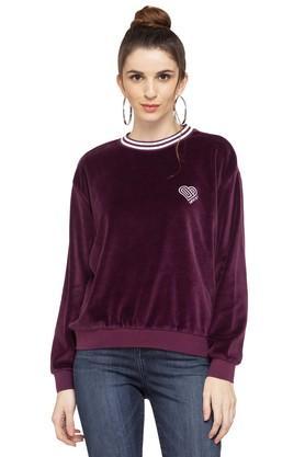 LEVISWomens Round Neck Solid Sweatshirt