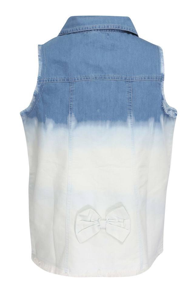 Girls 2 Pocket Washed Shirt