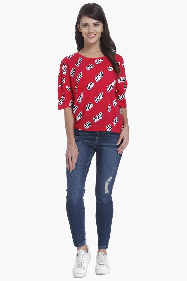 Womens Round Neck Printed T-Shirts