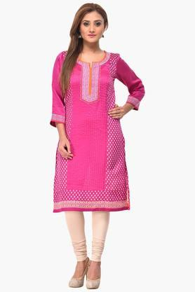 RANGRITI Womens Straight Poly Cotton Kurta - 201504801