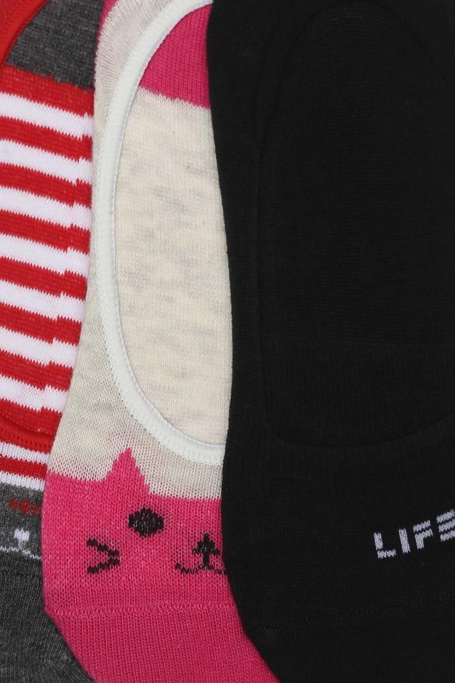 Womens Solid Printed and Striped Socks - Pack of 3