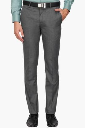 LOUIS PHILIPPE Mens 4 Pocket Slub Formal Trousers - 203340792