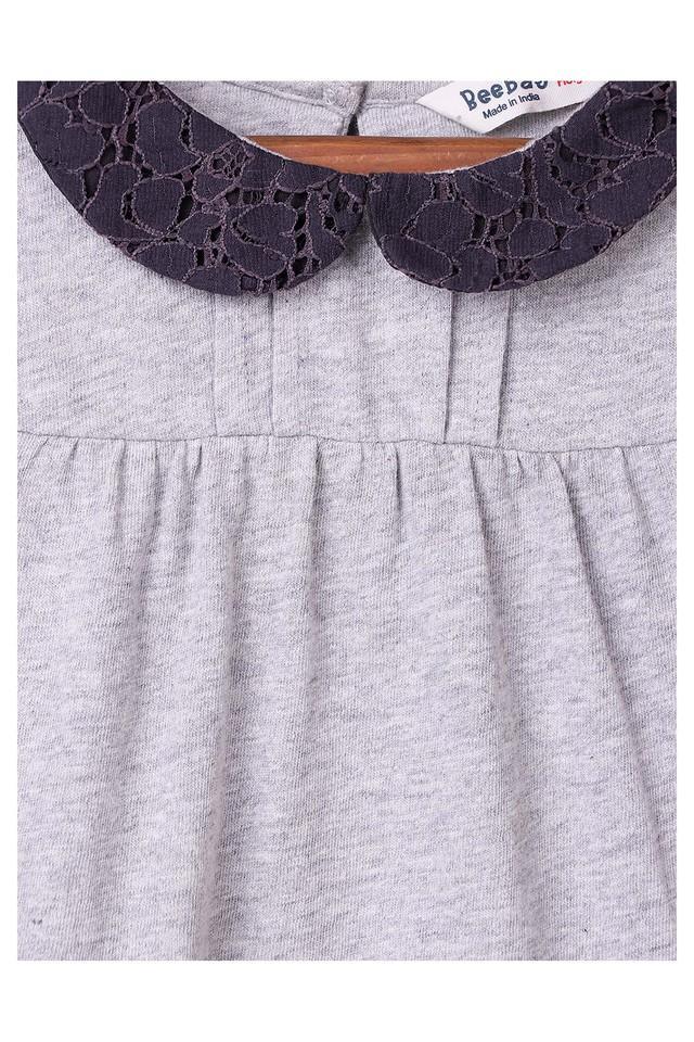 Girls Peter Pan Collar Slub Top