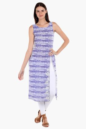FUSION BEATS Womens Printed Casual Kurta