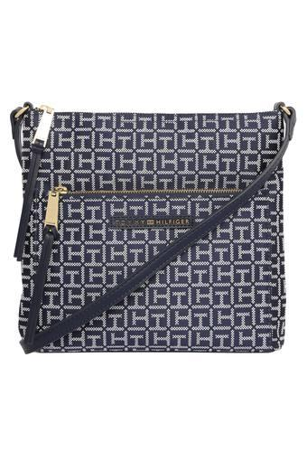 Womens Zip Closure Crossbody Sling Bag
