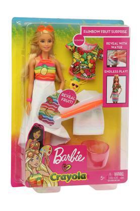 Unisex Rainbow Fruit Surprise Barbie Doll Play Set