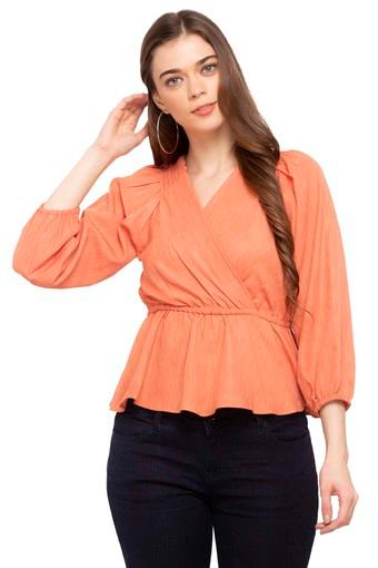 FEMINA FLAUNT -  Peach Tops & Tees - Main