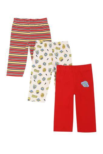 Kids Printed Striped and Solid Pyjama - Pack Of 3
