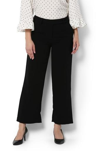 Womens 3 Pocket Solid Casual Pants