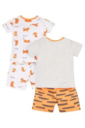 Boys Envelope Neck Printed Shorts and T-Shirt - Pack of 2