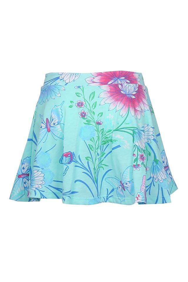 Girls Floral Printed Skorts