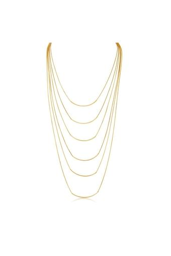 Womens Metallic Layered Necklace
