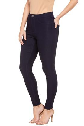 Womens 4 Pocket Coated Jeans