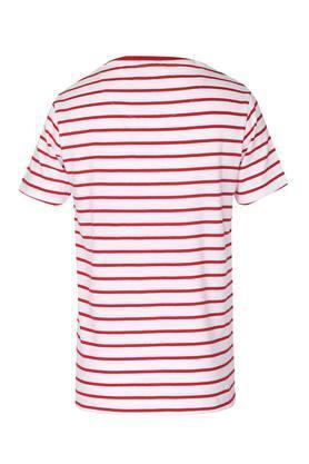 Boys Round Neck Stripe Tee