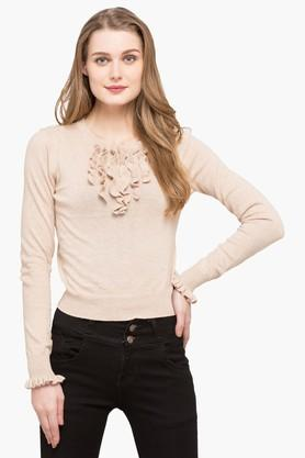 AEROPOSTALEWomens Round Neck Slub Sweater