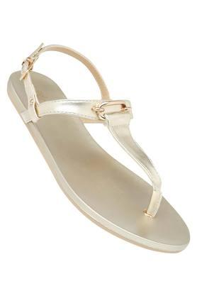 TRESMODE Womens Casual Wear Buckle Closure Flats