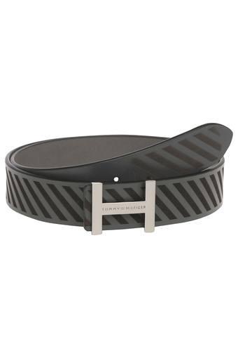 b1d1630d710b Buy TOMMY HILFIGER Mens Leather Buckle Closure Casual Belt ...