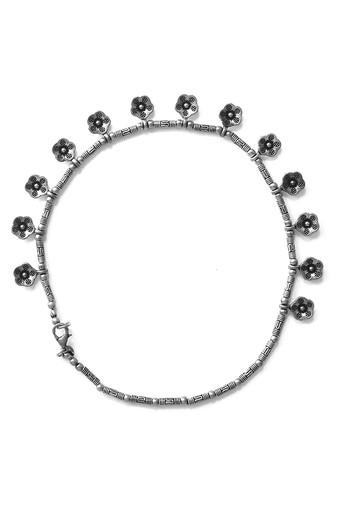 Womens Silver Plated Metal Anklet