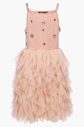 Girls Strappy Neck Assorted Asymmetrical Dress