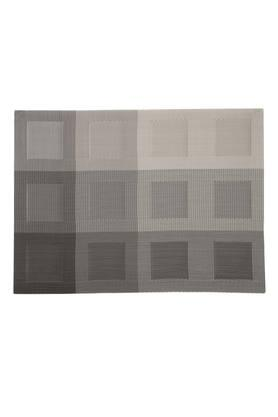 IVY Rectangular PVC Geometric Table Mat Set Of 6