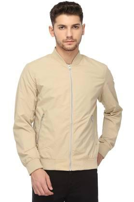 JACK AND JONES Mens Mao Neck Solid Jacket - 204567658_9126