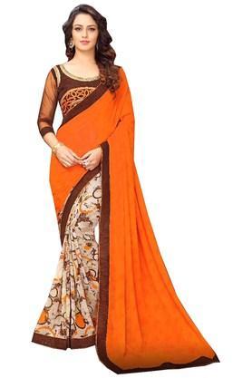 DEMARCAWomens Banglori Silk Designer Saree - 203984304_9508