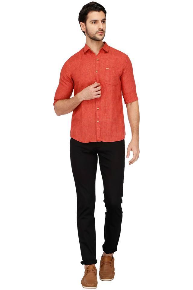 Mens Textured Casual Shirt