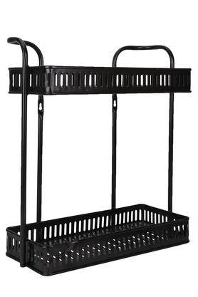 Metallic Grid 2 Rack Shower Caddy