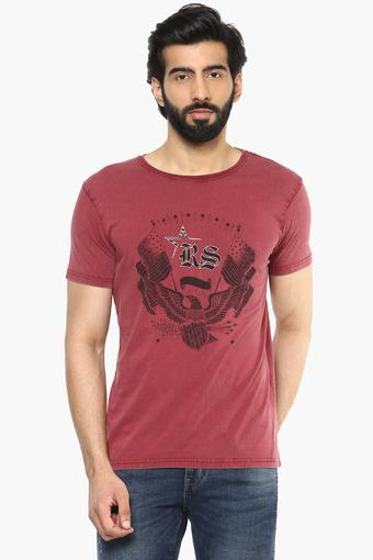 RS BY ROCKY STAR -  MaroonT-shirts - Main
