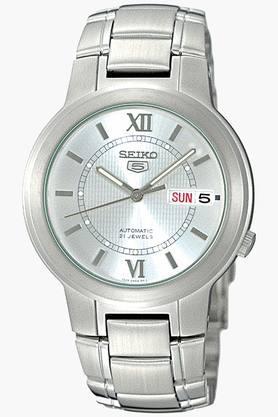 SEIKOMens 5 Analog White Dial Watch - SNKA19K1