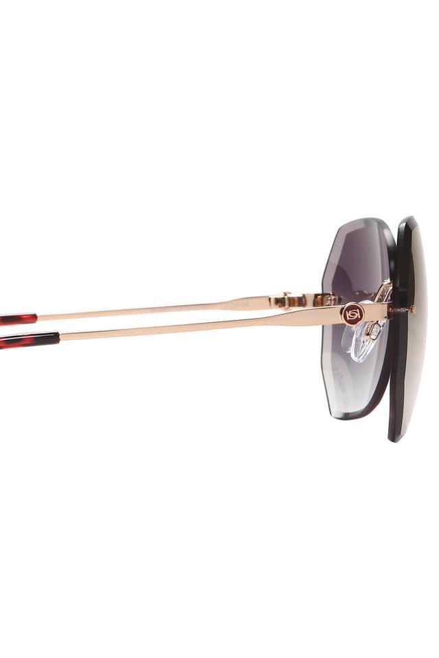 Womens Rimless Pentagonal Sunglasses
