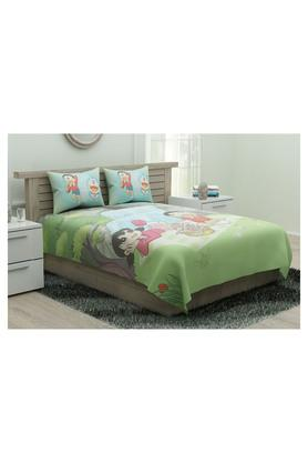 Printed Bed Sheet with Pillow Cover