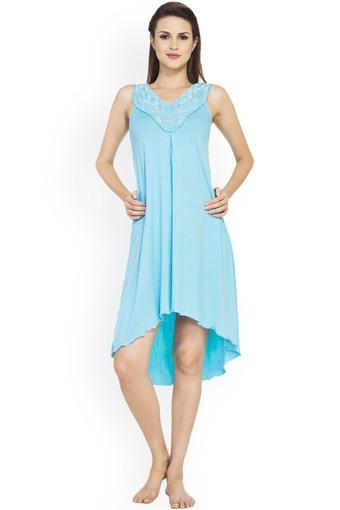 Womens V-Neck Embroidered Night Dress
