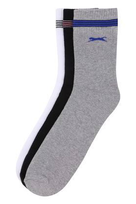 Mens Solid and Slub Socks - Pack Of 3