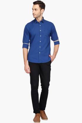 Men Regular Collar Solid Shirt