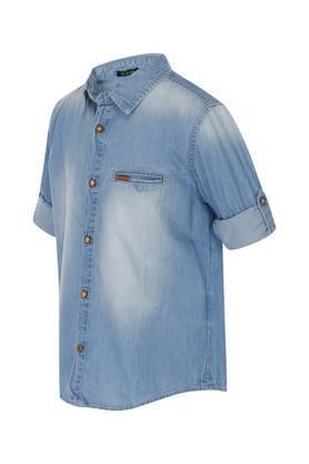 Boys Heavy Wash Casual Shirt