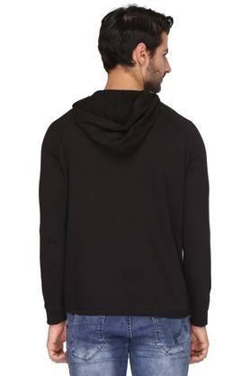 Mens Hooded Solid T-Shirt