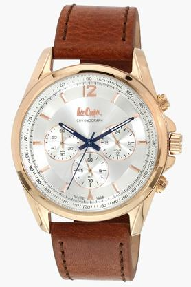 LEE COOPER Mens Leather Chronograph Watch - LC06415432