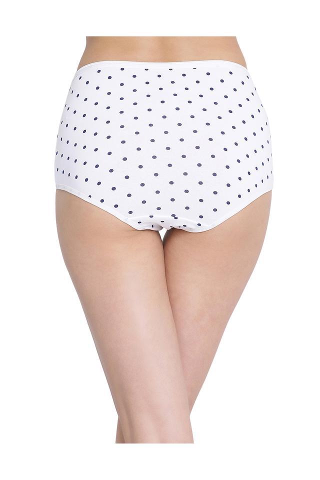 Womens High Waist Dot Pattern Hipster Briefs