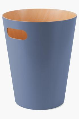 UMBRA Open Top Woodrow Misty Blue Can Solid Dustbin