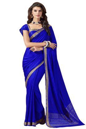 ASHIKACrepe Silk Ethnic Wear Saree With Blouse Piece