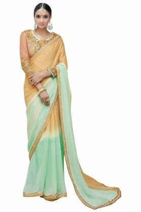 VRITIKA Womens Embroidered Saree With Blouse - 204144535_9456
