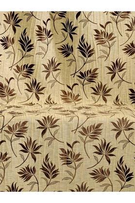 Floral Brass Polyester Door Curtain