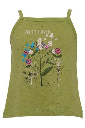 Girls Square Neck Floral Print Top