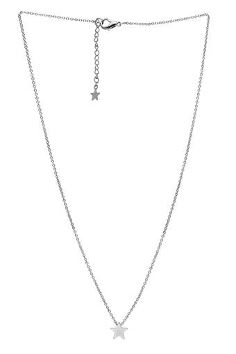 Womens Star Silver Plated Necklace